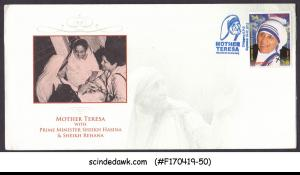 BANGLADESH 2012 102th BIRTH ANNIV. OF MOTHER TERESA SP. COVER WITH BLUE CANCL.
