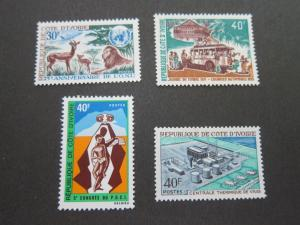 Ivory Coast 1970 SC 296,98,99,300 set(4) MNH