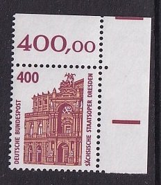 Germany   #1538    MNH   1990    Tourist sights  400pf
