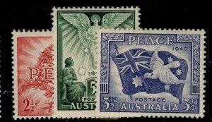 AUSTRALIA GVI SG213-215, VICTORY set, M MINT.