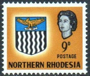 Northern Rhodesia 1963  9d yellow-brown  MH