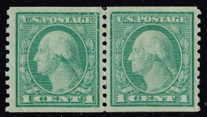 US STAMP #490 1c Rotary Coil 1916 MNH PAIR