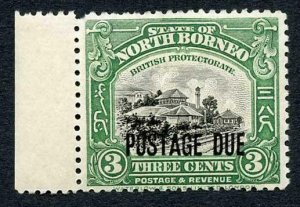 North Borneo SGD67 3c M/M Post Due Cat 12 Pounds