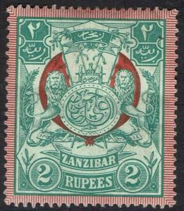 ZANZIBAR 1904 ARMS 2R