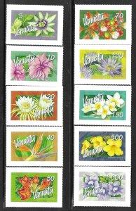 2006    VANUATU  -  SG.  973 / 982  -  FLOWERS - SELF ADHESIVE  -  MNH