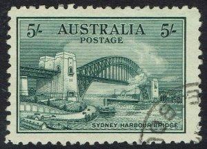 AUSTRALIA 1932 BRIDGE 5/- CTO