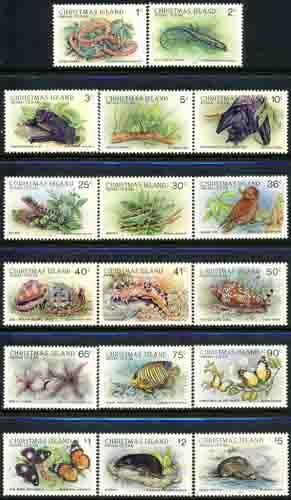 Christmas Island 1987 Sc 196-11 Nocturnal Creature Stamp MNH