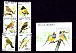 Togo 1784-89A MNH 1992 Birds