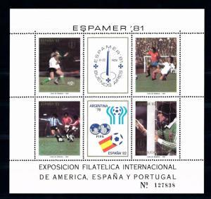 [59540] Argentina 1981 World Cup Soccer Football Spain MNH Sheet