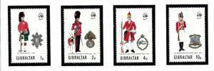 Gibraltar 276-79 MNH 1971 Military Uniforms