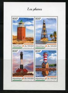 NIGER  2018 LIGHTHOUSES  SHEET  MINT NEVER HINGED