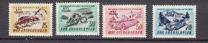 J27610 1953 yugoslavia-trieste set  mh #79-82 sports