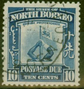 North Borneo 1939 10c Blue SGD89 V.F.U