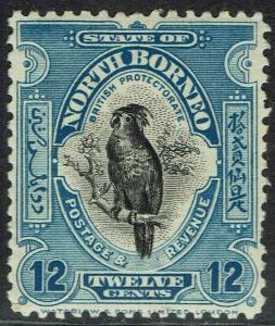NORTH BORNEO 1925 BIRD 12C PERF 12.5