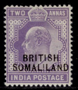 SOMALILAND PROTECTORATE EDVII SG27, 2a violet, M MINT.
