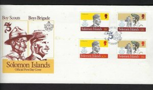 1982 Solomon Islands Boy Scout Boys Brigade FDC