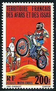 HERRICKSTAMP AFARS & ISSAS Sc.# 432 Motorcycle Race