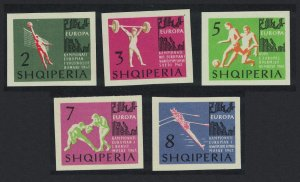 Albania Football Volleyball Boxing Rowing 5v Imperf 1963 MNH SG#769-773