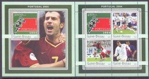 Guinea-Bissau. 2003. 2282-85 bl387. football. MNH.