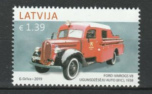 Latvia 2019 Cars, Ford MNH stamp