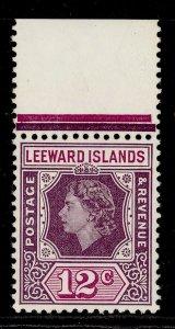 LEEWARD ISLANDS QEII SG134, 12c dull and reddish purple, NH MINT.