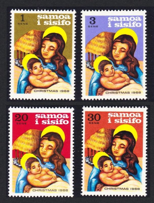 Samoa Christmas 4v issue 1968 SG#315-318 SC#300-303