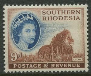 Southern Rhodesia- Scott 88 - QEII Definitives -1953- MVLH - Single 9d Stamp