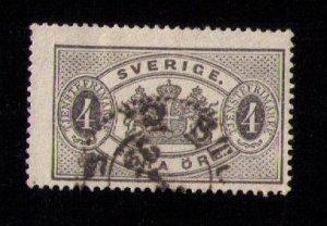 Sweden Scott # O14 Used F-VF
