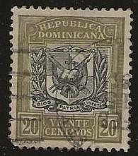 DOMINICAN REPUBLIC SC #  137   USED