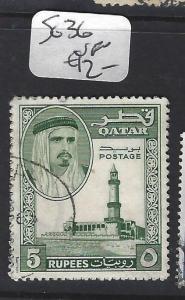 QATAR   (P0503B)  SHEIKH 5R  SG 36   VFU