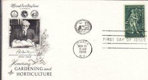 1958, Honoring Gardening & Horticulture, Artcraft, FDC (D13365)