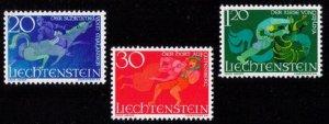 LIECHTENSTEIN Scott #421-423 A Complete Set MNH Very Fine 1967