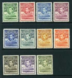Basutoland 1938 KGVI set SG 18-28 mint