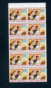 VINTAGE HOLY CHILDHOOD HAPPY CHRISTMAS BOOKLET OF 10 POSTER STAMPS (L581)