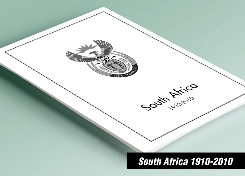 PRINTED SOUTH AFRICA [RSA] 1910-2010 STAMP ALBUM PAGES (253 pages)