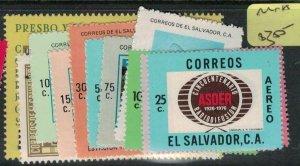 El Salvador SC 887-93, C399-401, C406-7 MNH (3ecq)