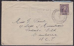 AUSTRALIA 1943 cover RAAF PO MT GAMBIER cds.................................2962