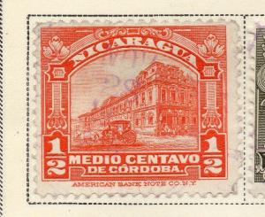 Nicaragua 1928 Early Issue Fine Used 1/2c. 323660