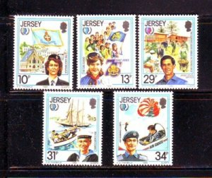Jersey Sc 356-360 1985 International Youth Year stamp set mint NH