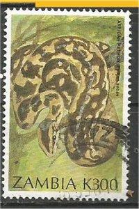 ZAMBIA , 1994, used 300k, Snakes Scott 641