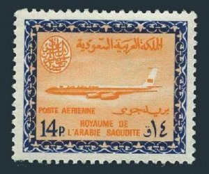 Saudi Arabia C46,MNH.Mi 255. Air Post 1966.Saudi Airline Boeing.Saud Cartouche.