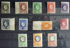 1921-MONTENEGRO-GAETA-FULL SET-12 VALUES WITHOUT OVERPRINT (MNH)-RARE! italy J6