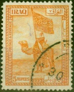 Iraq 1925 5R Orange SG52 Fine Used