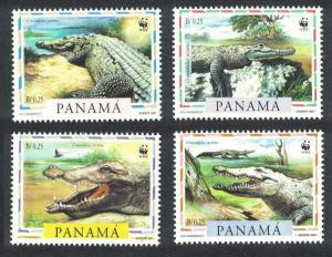 Panama WWF American Crocodile 4v SG#1590-1593 MI#1787-1790 SC#846 a-d