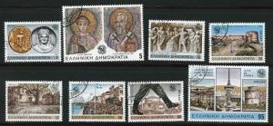 GREECE Scott 1524-1531 used CTO 1985 complete stamp set