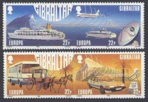 1988 Gibraltar 544-547Paar Europa CEPT / Satellite dish