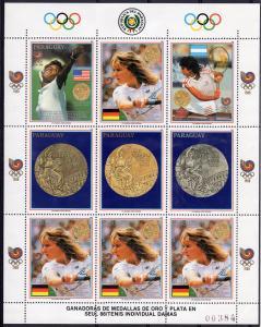 Paraguay 1989 Mi#4302 Kleinbogen STEFFI GRAF Medal Winner Olympics Shlt (4+5L)