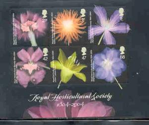Great Britain Sc 2214a 2004 Horticulture stamp sheet mint NH