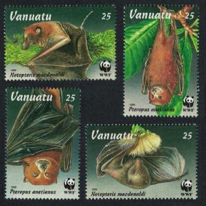Vanuatu WWF Flying Foxes Bats Endangered Animals 4v SG#716-719