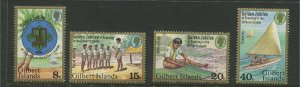 STAMP STATION PERTH Gilbert Is.#304-307 Scout Emblem Issue MNH CV$2.00